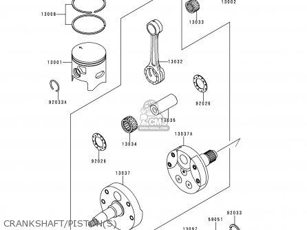 Kawasaki 1999 L1  Kx250 Crankshaft pistons
