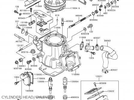 Kawasaki 1999 L1  Kx250 Cylinder Head cylinder