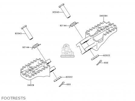 Kawasaki 1999 L1  Kx250 Footrests