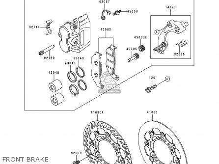 Kawasaki 1999 L1  Kx250 Front Brake