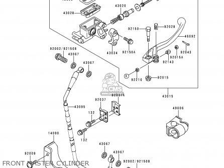 Kawasaki 1999 L1  Kx250 Front Master Cylinder