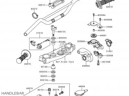 Kawasaki 1999 L1  Kx250 Handlebar