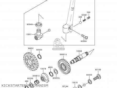 Kawasaki 1999 L1  Kx250 Kickstarter Mechanism