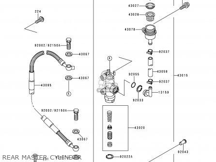 Kawasaki 1999 L1  Kx250 Rear Master Cylinder