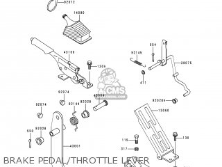 Kawasaki 2000 A1  Kaf950 north America Brake Pedal throttle Lever