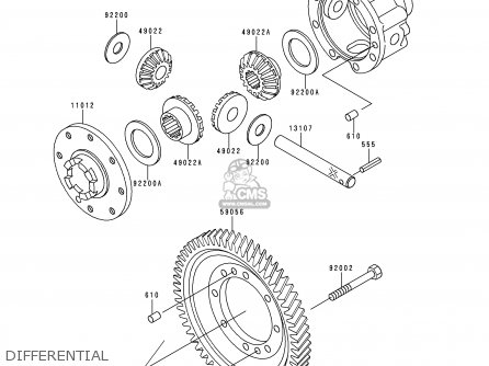 Kawasaki 2000 A1  Kaf950 north America Differential