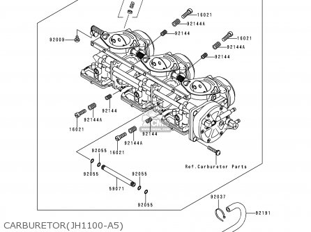 Kawasaki 2000 A5  Jh1100 north America Carburetorjh1100-a5