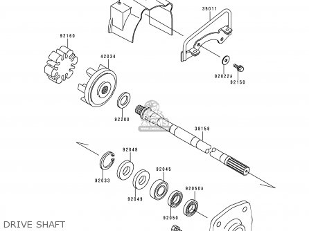 Kawasaki 2000 A5  Jh1100 north America Drive Shaft