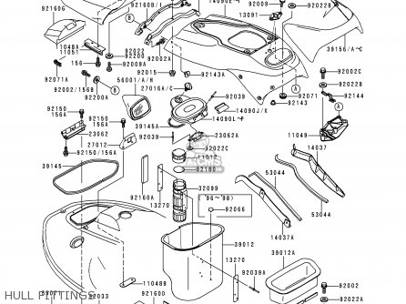 Kawasaki 2000 A5  Jh1100 north America Hull Fittings