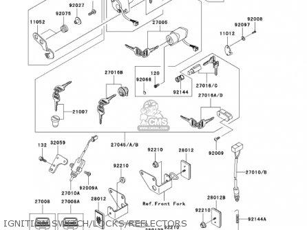 Kawasaki 2001 Bn125-a4 Eliminator 125 Ignition Switch locks reflectors