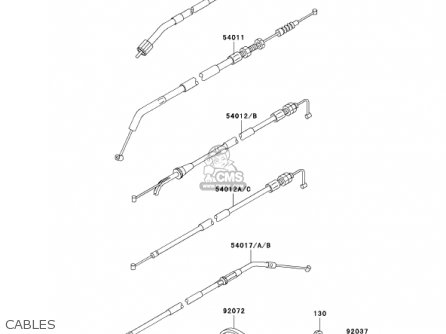 Kawasaki 2001 Ex250-f15 Ninja 250r Cables