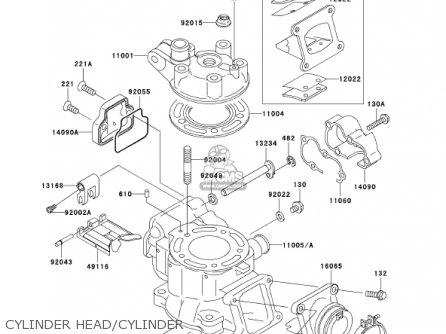 Kawasaki    2001 Kx85a1 Kx85 parts list partsmanual partsfiche