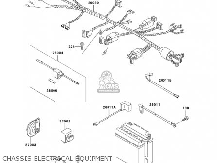 Kawasaki 2002 An110-c7 Chassis Electrical Equipment