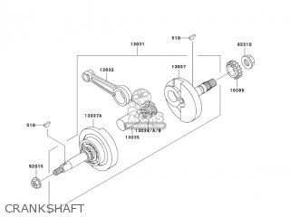 Kawasaki 2002 An110-c7 Crankshaft