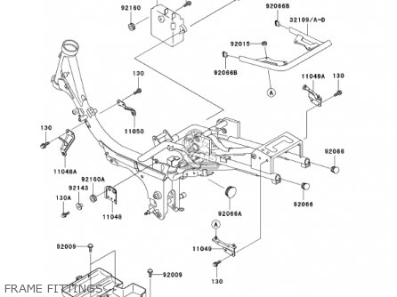 Kawasaki 2002 An110-c7 Frame Fittings