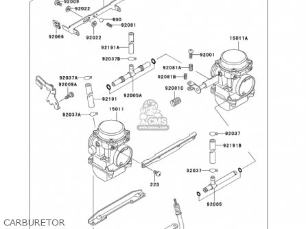 Kawasaki 2002 En500-c7 Vulcan 500 Ltd Carburetor