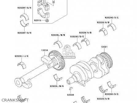 Kawasaki 2002 En500-c7 Vulcan 500 Ltd Crankshaft