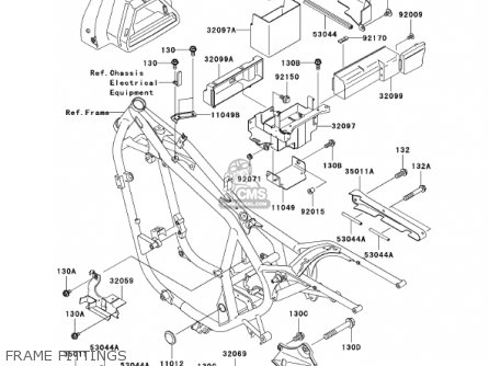 Kawasaki 2002 En500-c7 Vulcan 500 Ltd Frame Fittings