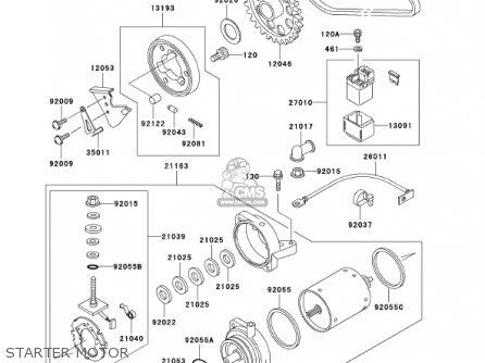 Kawasaki 2002 En500-c7 Vulcan 500 Ltd Starter Motor