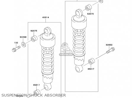 Kawasaki 2002 En500-c7 Vulcan 500 Ltd Suspension shock Absorber