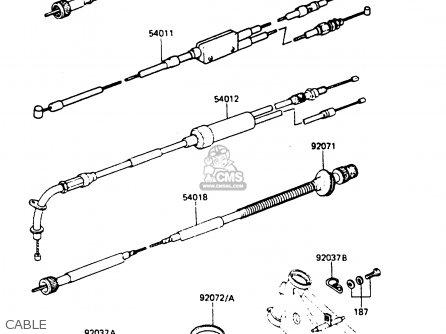 Kawasaki Ar80c5 1987 Usa   Mph Cable