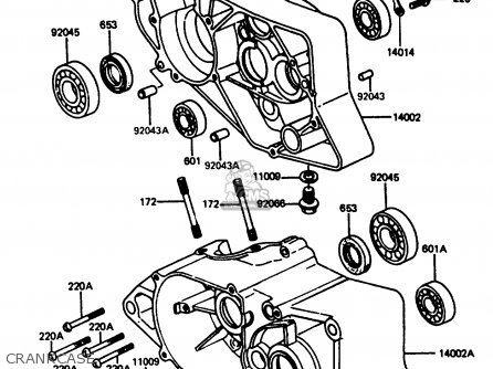 Kawasaki Ar80c5 1987 Usa   Mph Crankcase