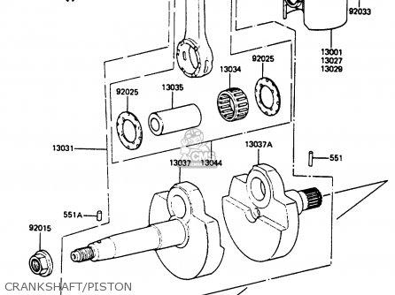 Kawasaki Ar80c5 1987 Usa   Mph Crankshaft piston
