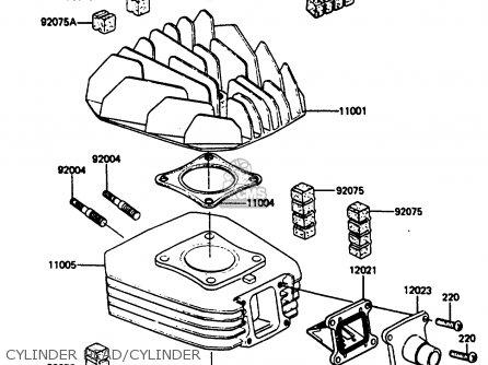 Kawasaki Ar80c5 1987 Usa   Mph Cylinder Head cylinder