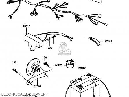 Kawasaki Ar80c5 1987 Usa   Mph Electrical Equipment