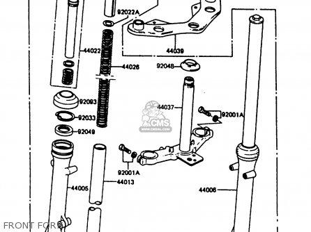 Kawasaki Ar80c5 1987 Usa   Mph Front Fork