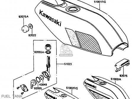 Kawasaki Ar80c5 1987 Usa   Mph Fuel Tank