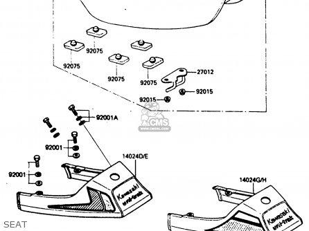 Kawasaki Ar80c5 1987 Usa   Mph Seat