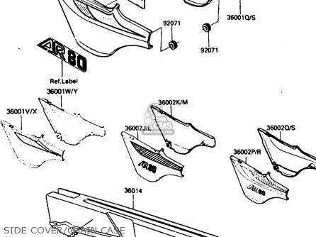 Kawasaki Ar80c5 1987 Usa   Mph Side Cover chain Case