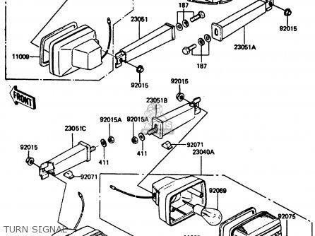 Kawasaki Ar80c5 1987 Usa   Mph Turn Signal
