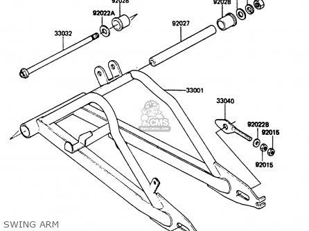 Kawasaki Ar80c5 1987   Mph Swing Arm