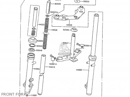 Kawasaki Ar80c6 1988 United Kingdom Front Fork