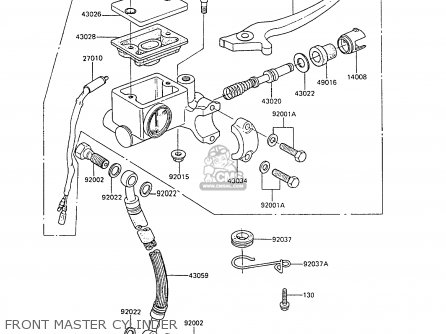 Kawasaki Ar80c6 1988 United Kingdom Front Master Cylinder