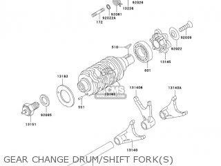 GEAR CHANGE DRUM/SHIFT FORK(S) - BN125A6 ELIMINATOR 2003 USA CANADA