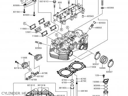 CYLINDER HEAD - EJ650A1 W650 1999 EUROPE UK FR NL FG IT NR
