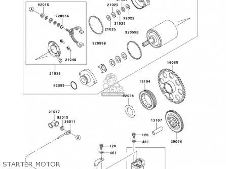 STARTER MOTOR - EJ650A4 W650 2002 CANADA