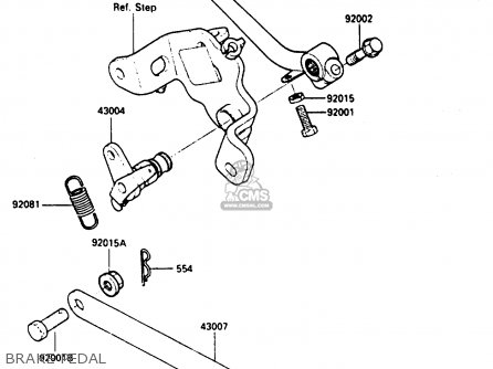 Kawasaki En400a2 Vulcan 1986 Canada   Liquid Cooled Brake Pedal