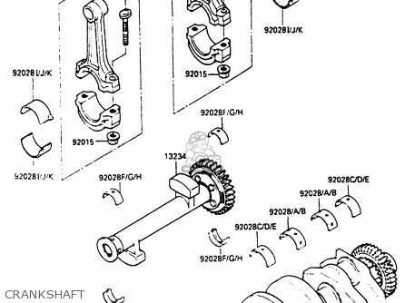 Kawasaki En400a2 Vulcan 1986 Canada   Liquid Cooled Crankshaft