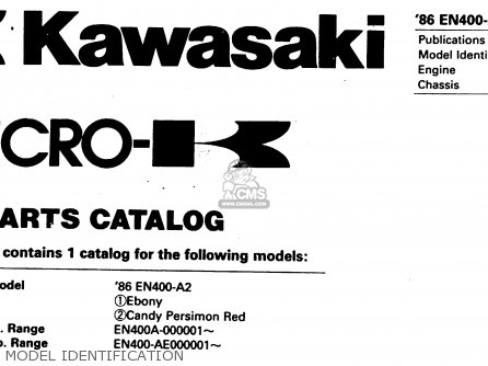 Kawasaki En400a2 Vulcan 1986 Canada   Liquid Cooled Model Identification