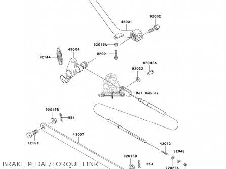 Kawasaki En500c7 Vulcan500ltd 2002 Usa California Canada Brake Pedal torque Link