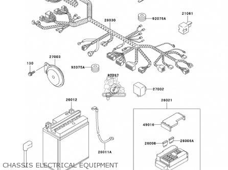 Kawasaki En500c7 Vulcan500ltd 2002 Usa California Canada Chassis Electrical Equipment