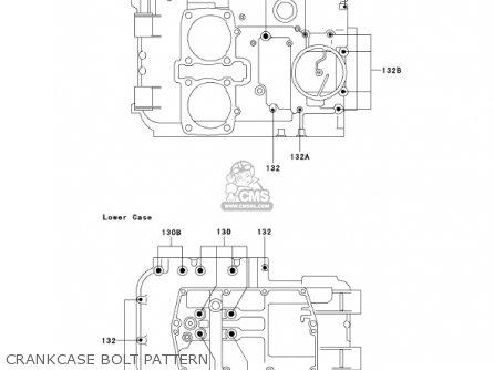 Kawasaki En500c7 Vulcan500ltd 2002 Usa California Canada Crankcase Bolt Pattern