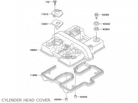 Kawasaki En500c7 Vulcan500ltd 2002 Usa California Canada Cylinder Head Cover