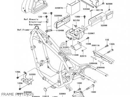 Kawasaki En500c7 Vulcan500ltd 2002 Usa California Canada Frame Fittings