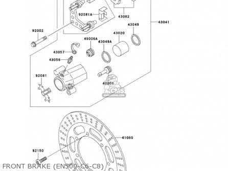 Kawasaki En500c7 Vulcan500ltd 2002 Usa California Canada Front Brake en500-c6-c8