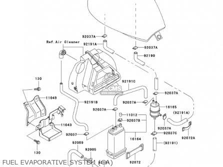 Kawasaki En500c7 Vulcan500ltd 2002 Usa California Canada Fuel Evaporative System ca